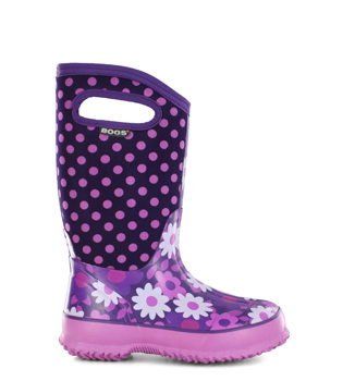 Flower Dot Kids' Insulated Boots